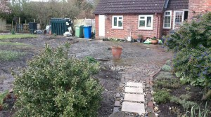 New patio and pathway project in Faversham, Kent